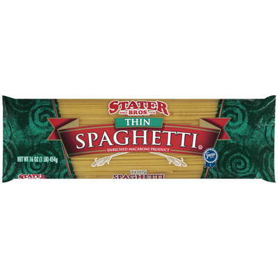 Stater Bros. Thin Spaghetti Enriched Macaroni Product 16 Oz Bag