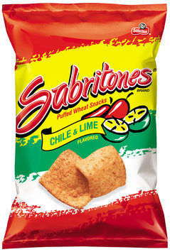 sabritas® sabritones® chile & lime flavored puffed wheat snacks
