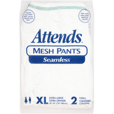 MPS40100 Attends® Seamless Mesh Pants X-Large Green Band, 2 count