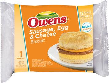 Owens® Sausage, Egg & Cheese Biscuit 4.5 oz. Bag
