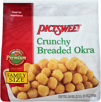PICTSWEET Premium Crunchy Breaded Okra 28 OZ STAND UP BAG