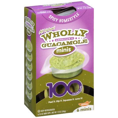 Wholly Guacamole® Spicy Homestyle Guacamole Minis 6-2 oz. Mini Cups