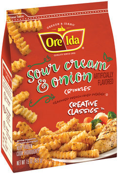 Ore-Ida® Creative Classics™ Sour Cream & Onion Potato Crinkles 15 oz. Bag