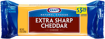 Kraft Natural Cheese Extra Sharp Cheddar Cheese 8 oz. Brick