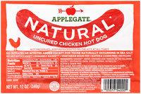 Applegate® Natural* Uncured Chicken Hot Dog 12 oz. Pack