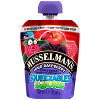 Musselman's® Squeezables Sours! Sour Raspberry Apple Sauce 3.17 oz. Pouch