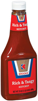 Brooks Rich & Tangy Ketchup 24 Oz Plastic Bottle