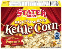 Stater Bros. Microwave Sweet & Salty Popcorn Kettle Corn 3 Ct Box