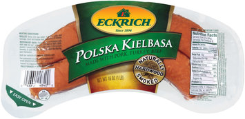 Eckrich Naturally Hardwood Smoked Polska Kielbasa Made W/Pork/Turkey & Beef Smoked Sausage 16 Oz Pack