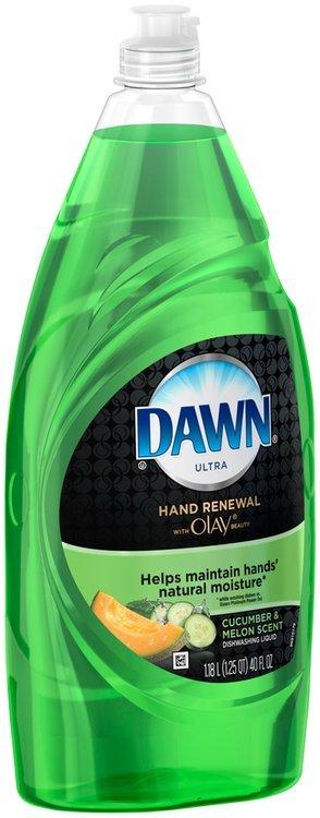 Hand Renewal Dawn Hand Renewal with Olay Dishwashing Liquid Cucumber & Melon 40 Oz