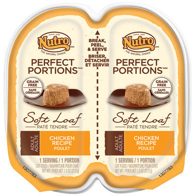 Nutro® Perfect Portions™ Adult Chicken Recipe Soft Loaf Cat Food 2-1.3 oz. Trays