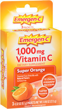 Emergen-C® Dietary Supplement in Super Orange Flavor 3-0.32 oz Packets