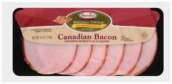 Hormel® Natural Choice®  Canadian Bacon 6 oz. Package