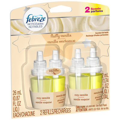 Febreze NOTICEables Fluffy Vanilla Dual Scented Oil Refill Value Pack 2-0.87 fl. oz. Carded Pack