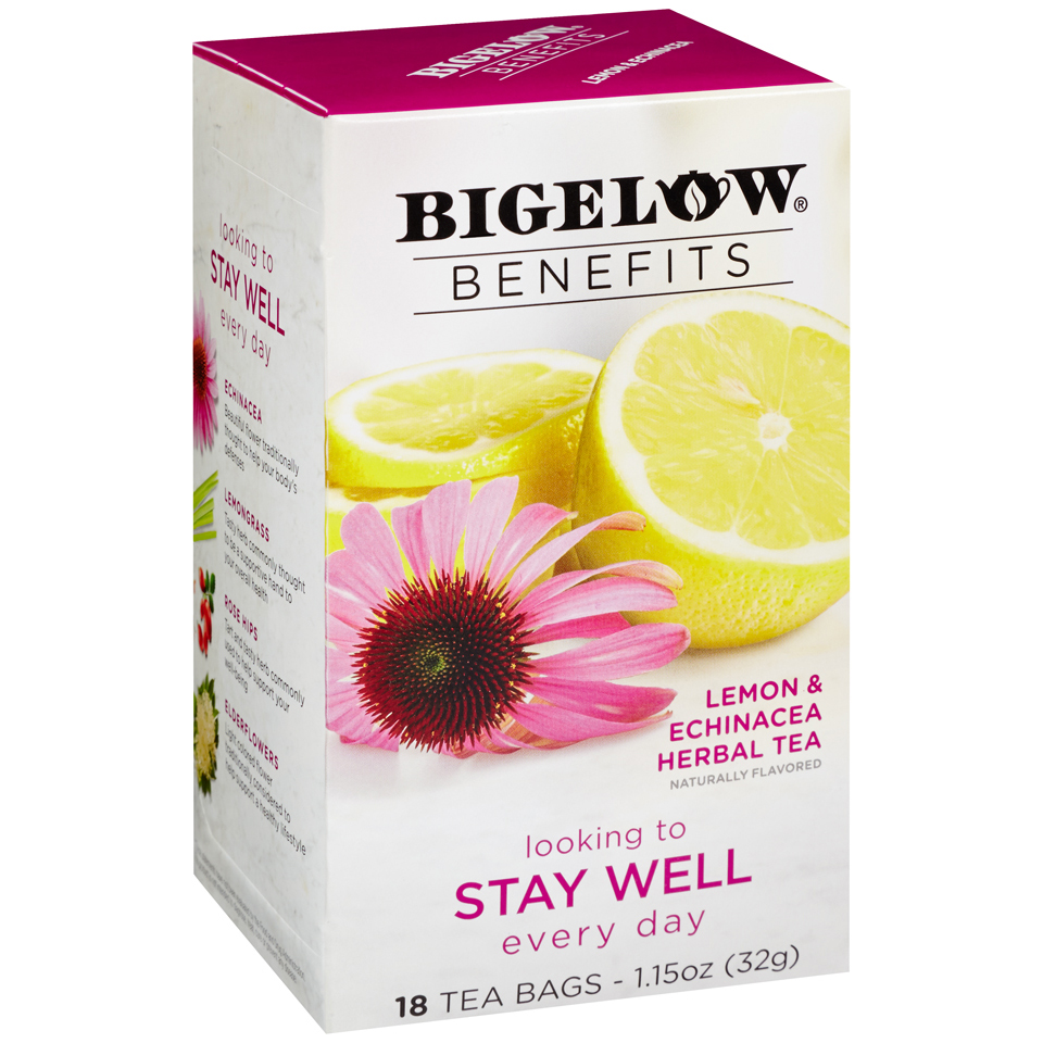 Bigelow® Benefits Lemon & Echinacea Herbal Tea