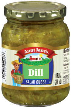 Aunt Jane's Salad Cubes Dill Pickles 10 Oz Jar