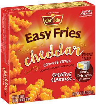 Ore-Ida® Easy Fries® Cheddar Crinkle Fries 4.25 oz. Box
