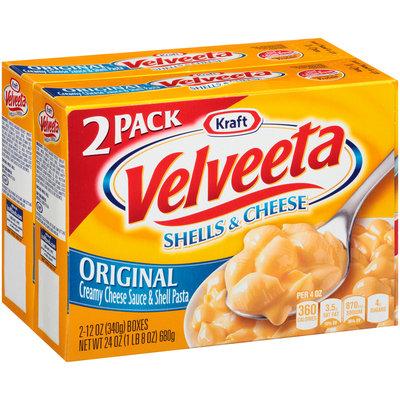 Kraft Velveeta Original Shells & Cheese 2-12 oz. Boxes