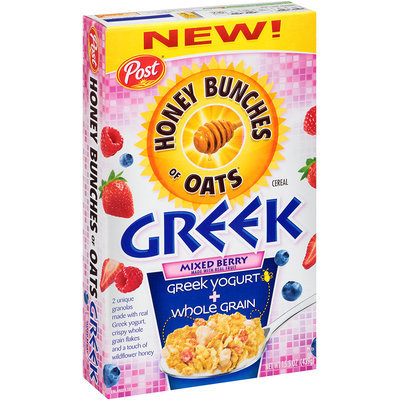 Honey Bunches of Oats Greek Mixed Berry Cereal