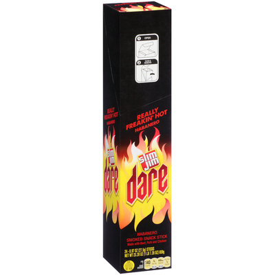 Slim Jim® Dare™ Really Freakin' Hot Habanero Spicy Smoked Snack 24 ct Box