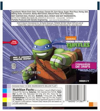 Betty Crocker™ Nickelodeon™ Teenage Mutant Ninja Turtles™ Cinnamon Oat Crisps 0.99 oz. Pack