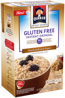 Quaker® Select Starts Gluten Free Maple & Brown Sugar Instant Oatmeal