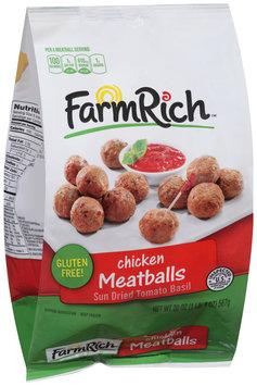Farm Rich™ Sun Dried Tomato Basil Chicken Meatballs 20 oz. Bag