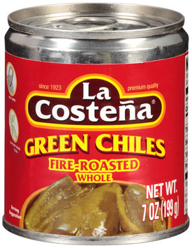 La Costena® Green Chiles Fire-Roasted Whole 7 oz. Can