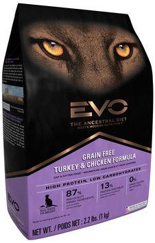 EVO Turkey & Chicken Formula Cat & Kitten Food 2.2 lb. Bag