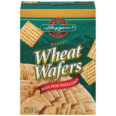 Haggen Baked Wheat Wafers 9.5 Oz Box