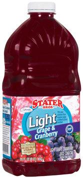 Stater Bros. Light Grape & Cranberry Juice Cocktail 64 Fl Oz Plastic Container