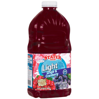 Stater Bros. Light Grape & Cranberry Juice Cocktail 64 Fl Oz Plastic Container