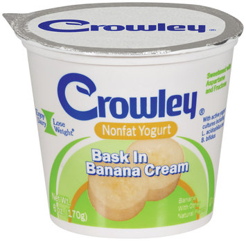 crowley® nonfat yogurt bask in banana cream