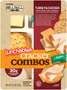Lunchables Cracker Combos Turkey & Chicken with Swiss & Cheddar