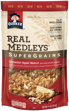 Quaker® Real Medleys® SuperGrains Cinnamon Apple Walnut Granola Cereal