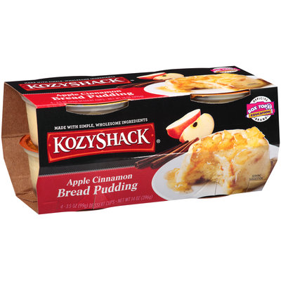 Kozy Shack® Apple Cinnamon Bread Pudding 4-3.5 oz. Dessert Cups