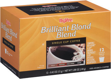 Hy-Vee® Brilliant Blond Blend Single Serve Cup Coffee 12 ct Box