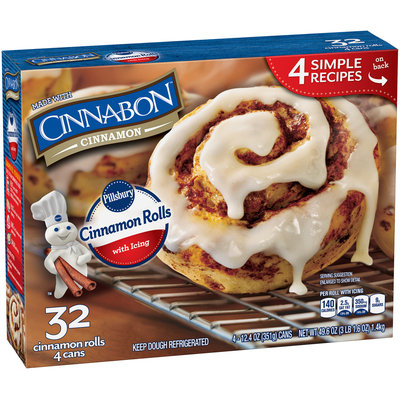 Pillsbury Cinnamon Rolls with Icing 4-8 ct Cans