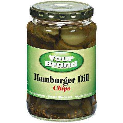 Your Brand Hamburger Dill Chips Pickles 24 Fl Oz Jar