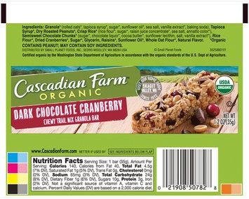 Cascadian Farm™ Organic Dark Chocolate Cranberry Chewy Trail Mix Granola Bar 1.2 oz. Wrapper