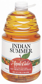 Indian Summer Not from Concentrate 100% Pasteurized Apple Cider Fresh UPC 41760 00500 128 Oz Plastic Bottle