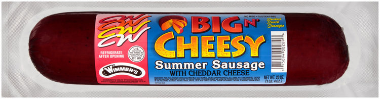 Wimmer's® Big 'N Cheesy Cheddar Cheese Summer Sausage