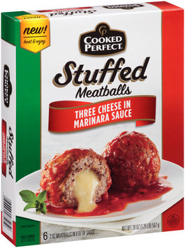 Cooked Perfect® Stuffed Meatballs Three Cheese in Marinara Sauce