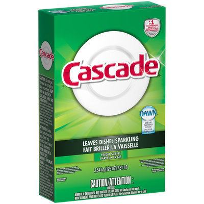 Cascade Powder Dishwasher Detergent, Fresh Scent, 125 Oz