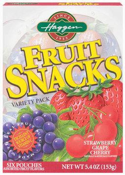 Haggen Variety Pk Assorted Fruit 6 Ct Fruit Snacks 5.4 Oz Box