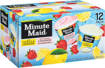 Minute Maid® Soft Frozen Strawberry Lemonade and Soft Frozen Lemonade 12-8 fl. oz. Cups