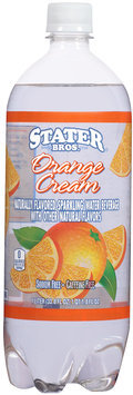Stater Bros.® Flavored Sparkling Water Orange Cream 33.8 fl.oz.