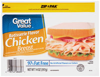 Great Value™ Rotisserie Flavor Chicken Breast 14 oz. Zip-Pak®