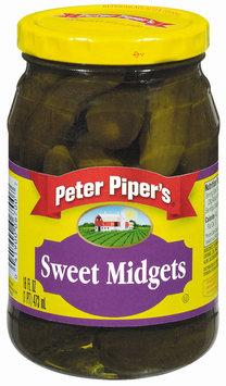 Peter Piper's Sweet Midgets Pickles 16 Oz Jar