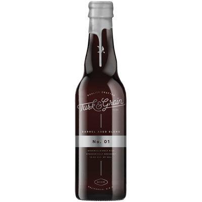 Tusk & Grain Barrel Aged Blend No. 01 Beer 16.9 fl. oz. Glass Bottle